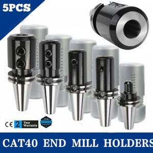 Cat40 End Mill Holders Coolant Thru 5 Pcs Of Any Sizes new Tool Holder Set New