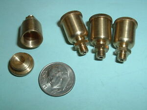 4 Model Hit And Miss Gas Or Steam Engine Brass Oil Cups 10 32 Mounting Thread