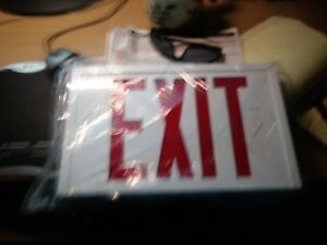 Cooper Sure lights Ac Powered Exit Signs Steel Series