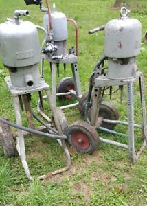 3 Graco Bulldog Airless Paint Sprayer Pump Motors W stands Contractor Dealer Lot