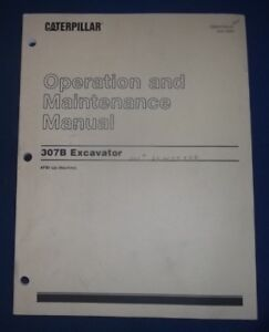 Cat Caterpillar 307b Excavator Operation Maintenance Book Manual Afb