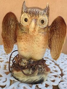 Beautiful Mid Century Modern Owl Lamp With Light Up Eyes Unique
