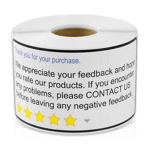 Thank You For Your Purchase Stickers Envelope Self Adhesive Labels 10 Rolls