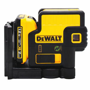 Dewalt dw085lg 12 volt Max Li ion 5 spot Green Laser Level T Stak Kit