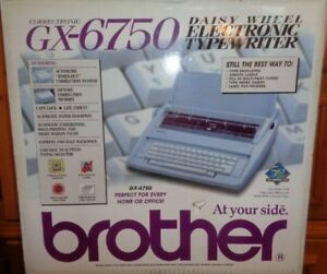 Brother Gx 6750 Electronic Typewriter Daisy Wheel Extra Ribbon Electric