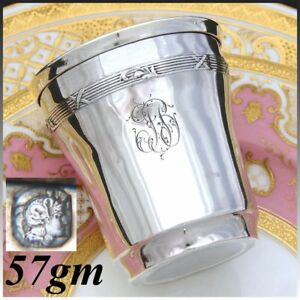 Antique French Sterling Silver Wine Or Mint Julep Cup Tumbler Timbale Fb