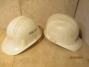 Vintage Construction Hard Hat Lot Of 2 Hard Hats By North And Ram Cap