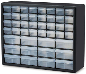 Small Parts Storage Organizer Cabinet Drawer Box Bin 44 Drawer Hardware Durable