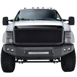 08 10 Ford Super Duty F 250 350 Replacement Mesh Grill Abs Black Grille W shell