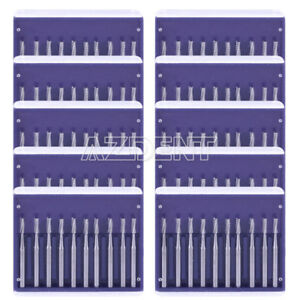 10box Dental Pear shaped Type High speed Tungsten Burs Fg Azdent 10pcs pks