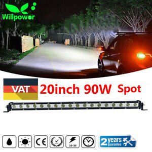 20inch 90w Single Row Cree Led Light Bar Spot Beam Super Slim Fog Driving Lamp