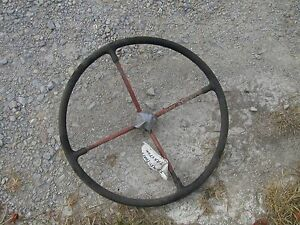 Farmall 400 Tractor Ih 4 Spoke Steering Wheel Chrome Power Steering Medallion