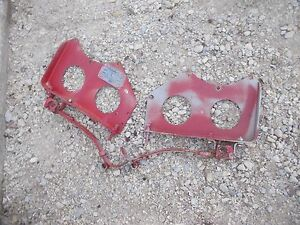 1940 Farmall A Tractor Ih Main Seat Mounting Brace Brackets Serial Tag Springs