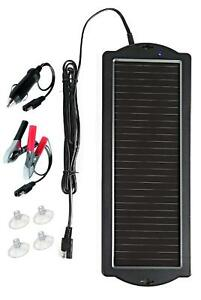12 Volt Solar Battery Maintainer Waterproof Car Rv Charger Tender Trickle 1 8w