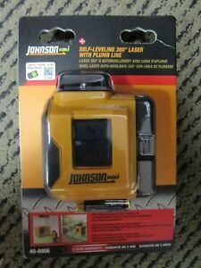 Johnson Self leveling 360 Degree Laser W Plumb Line 40 6606 Brand New