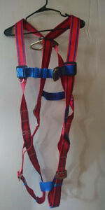Madaco Tuff belt Full Body Safety Harness W lanyard Case Large New