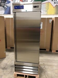New Coolfront One 1 Door Upright Commercial Stainless Steel Refrigerator 23 Cu