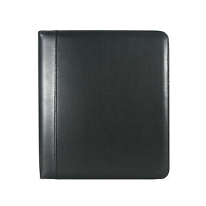 Andrew Philips Genuine Leather 2 D ring Binder In Black