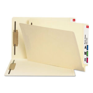 Smead 37215 Legal End Tab Two Fasteners Manila File Folders 50 Count Box
