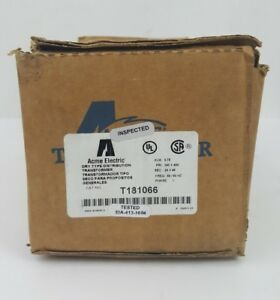 Acme Electric T181066 Distribution Transformer Nos