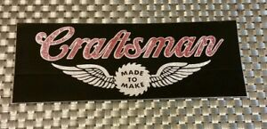 Craftsman Sticker Decal 3x8 Racing Free Shipping Hotrods Offroad Drags Koh Nhra
