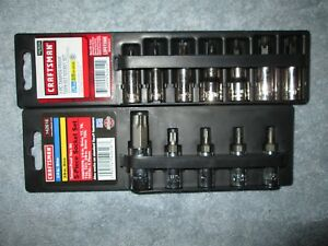 New Craftsman Usa 12pc 3 8 1 4 Drive Security Torx Bit Socket Set T7 t55