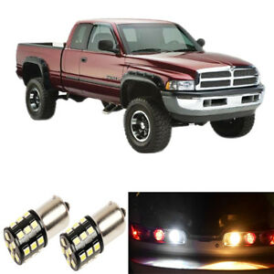 High Power White 3157 Led Reverse Backup Light Bulbs For 1994 1998 Dodge Ram