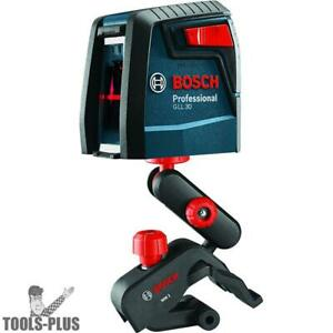 Bosch Gll30 30 Self leveling Cross line Laser New