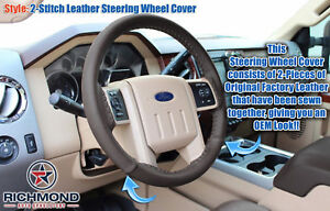2015 F 250 F 350 King Ranch Leather Steering Wheel Cover W Needle