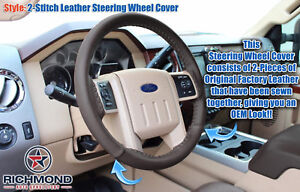 2015 2016 F 250 F 350 King Ranch Mesa Antique leather Wrap Steering Wheel Cover