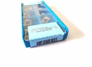 lot Of 10 Ingersoll Aomt 120408r In2510 Carbide Inserts