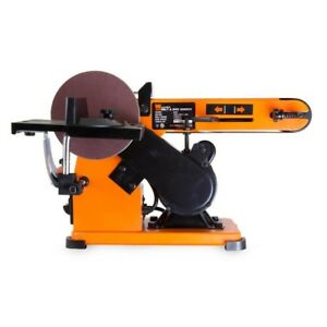 Steel Frame Belt Disc Sander 4x36 Power Tool Steel Base and Body 3.2 Amp Sturdy