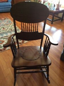 Antique Wood Rocking Chair Recently Refinished
