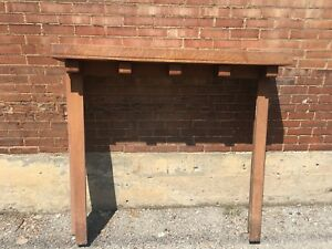 Antique Fireplace Surround Mantel Arts And Crafts Style Oak