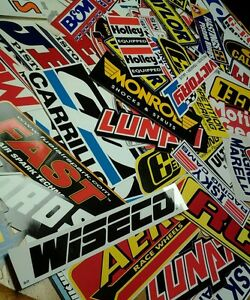 Lot Of 15 Racing Decal Contingency Stickers Stock Car Dragster Nascar Nhra