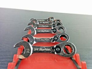aa325 Blue point Tools Standard Midget Ratchet Wrench 6 Of 8pc Set Boers708