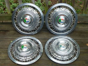 1954 Kaiser Darrin Wire Wheel Hubcaps Hub Caps With Emblems