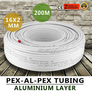 Pex Al Pex Tubing Pipe Radiant Heat 1 2 656ft 200m Roll Gas Piping Polyethylene