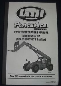 Lull Placeace Series 644e 42 Forklift Operator Operation Maintenance Manual