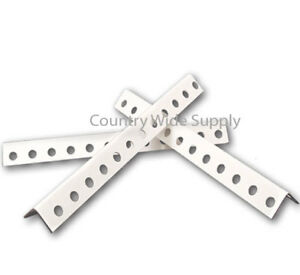 Pack Of 10 White Powder Coated 1 1 4 X 1 1 4 X 8 3 12ga Perforated Angle