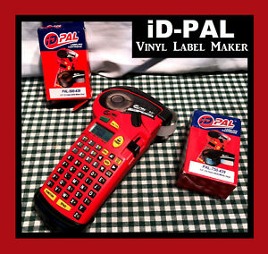 Pre owned Brady Id pal Labeling Tool Red W Vinyl Labels Loaded Tested Working