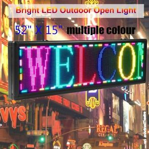 Multiple Color 52 x15 Programmable Led Sign Scrolling Message Display Board