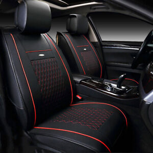 Us For Toyota Camry Prius Corolla Rav4 Car Leather Seat Covers Front Rear Bk Wt