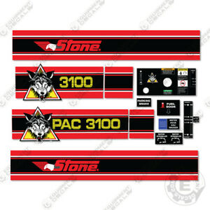 Stone Wolfpac 3100 Vibratory Roller Full Decal Kit Most Complete Kit Online
