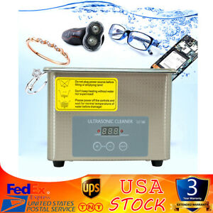 Stainless Steel 0 8l Liter Industry Heated Ultrasonic Cleaner Heater W timer Us