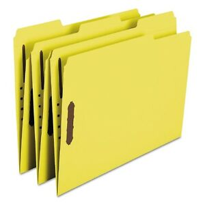 Smead 1 3 Cut Assorted Positions File Folders Two Fasteners Letter 50ct Yellow