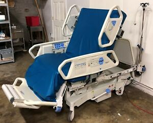 Hill rom Totalcare P1900 Hospital Bed With Air Mattress Intellidrive Upgrade