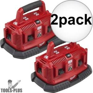 Milwaukee 48 59 1806 2 M18 Six Pack Sequential Charger 2x New