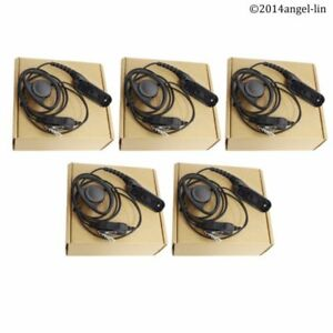 Lot 5 D Shape Earpiece Headset For Motorola Apx6000 Dp3401 Xpr6500 Radio