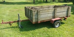 Preowned Haulin Trailers Tilting Wooden Utility Trailer 4 X 7 1 2